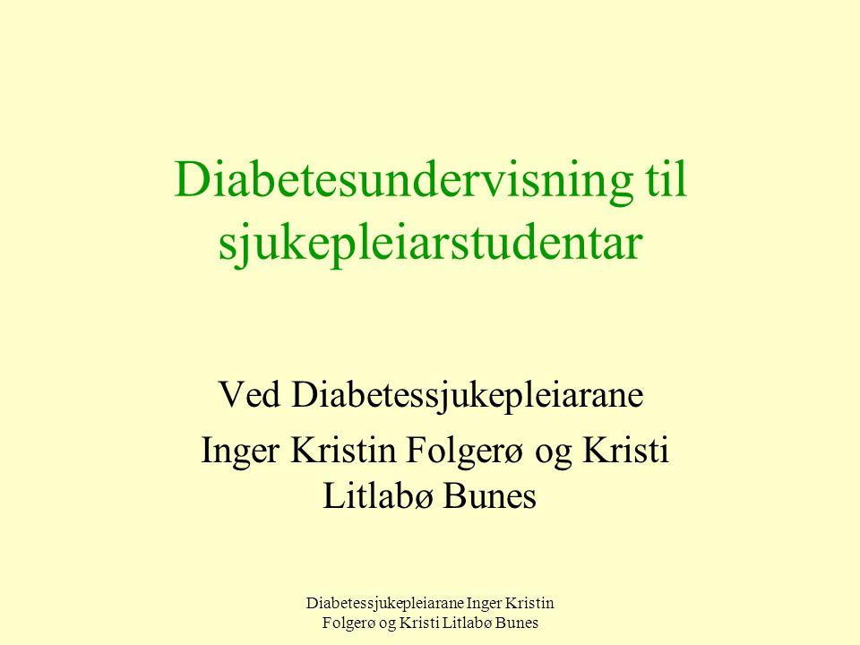 Diabetesundervisning til sjukepleiarstudentar
