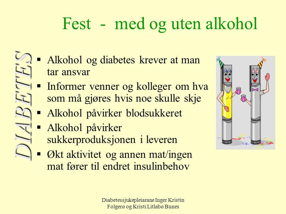 Fest - med og uten alkohol