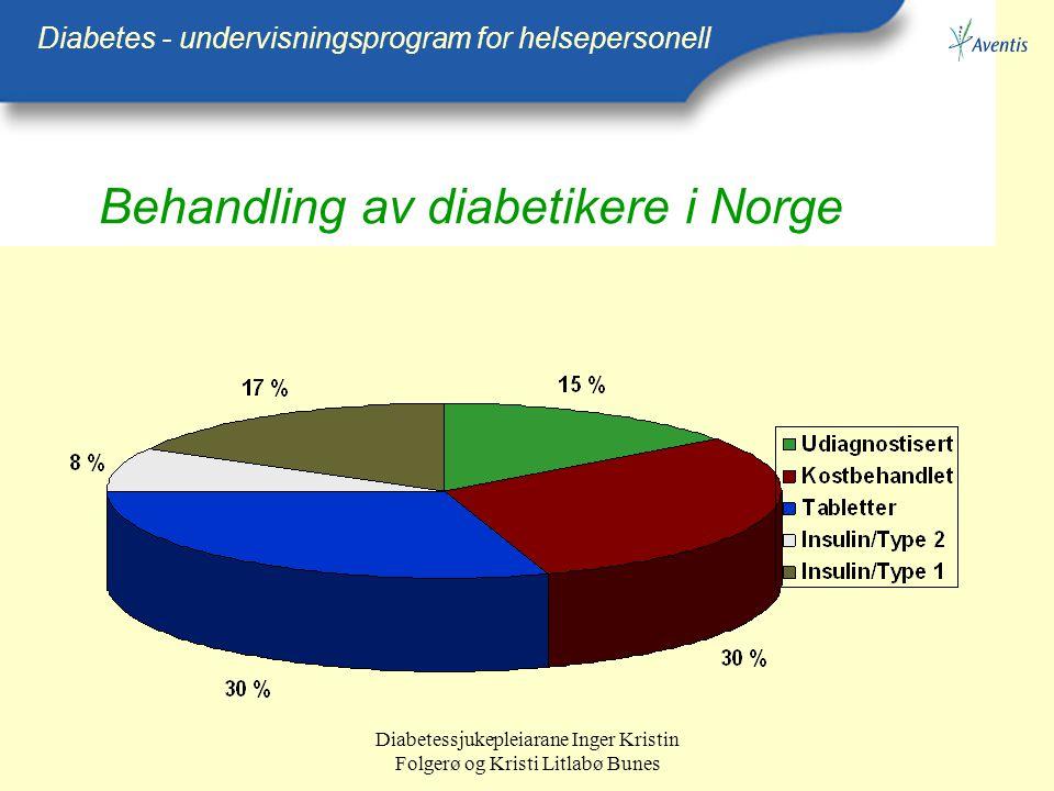 Behandling av diabetikere i Norge