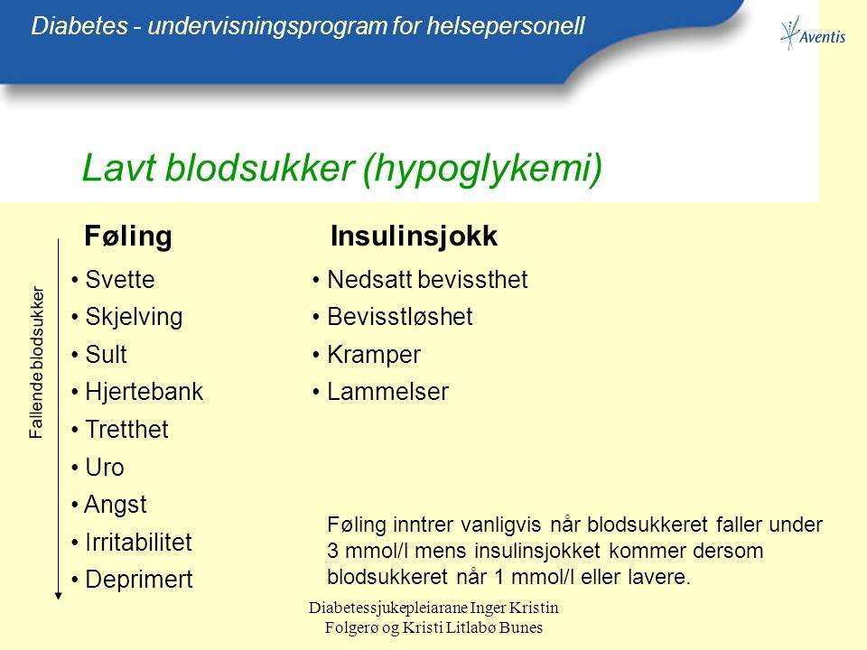 Lavt blodsukker (hypoglykemi)