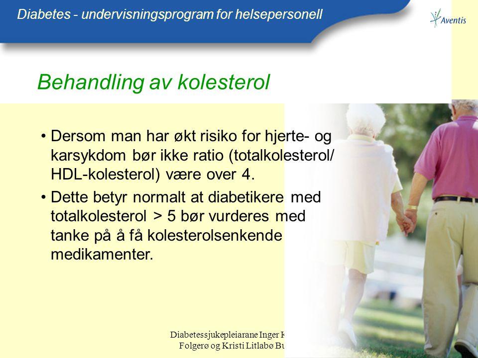 Behandling av kolesterol
