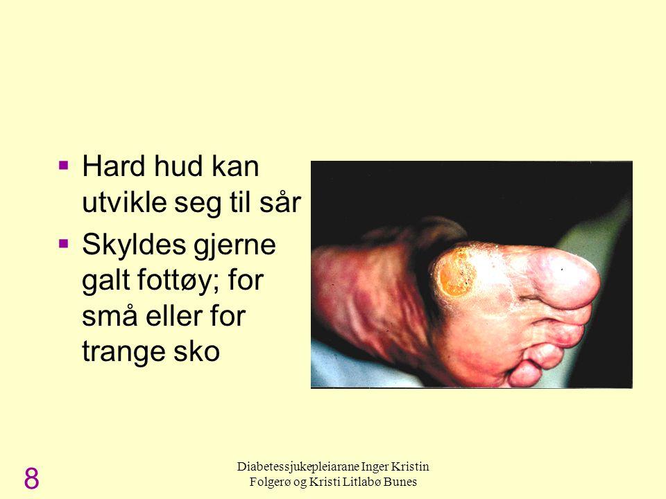 Diabetessjukepleiarane Inger Kristin Folgerø og Kristi Litlabø Bunes