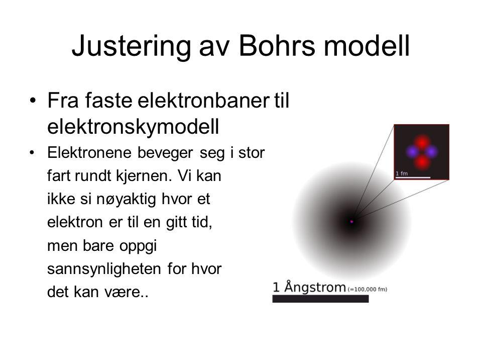 Justering av Bohrs modell