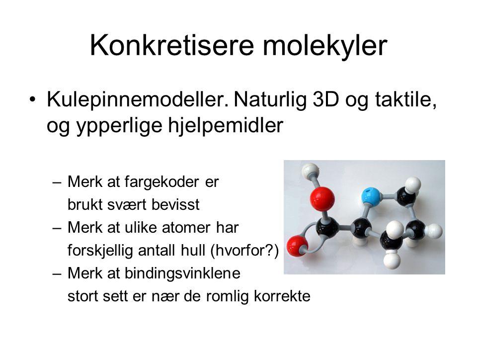 Konkretisere molekyler