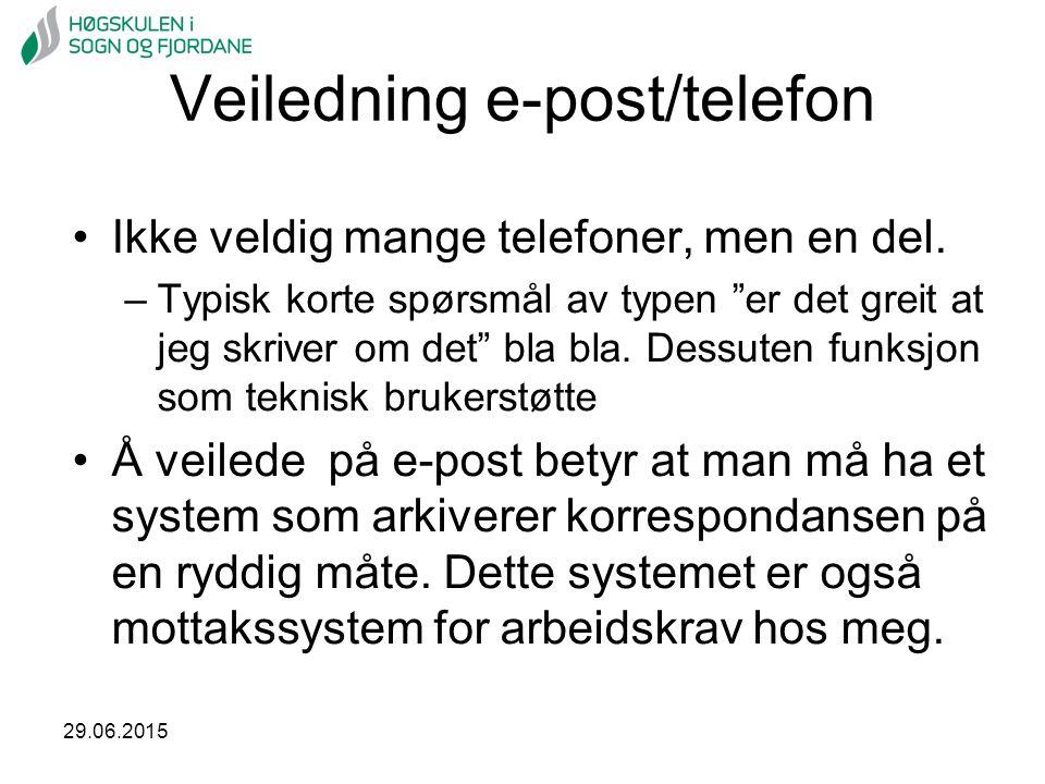Veiledning e-post/telefon
