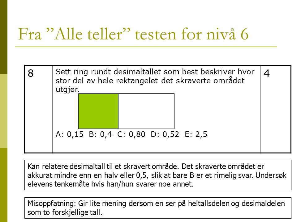 Fra Alle teller testen for nivå 6