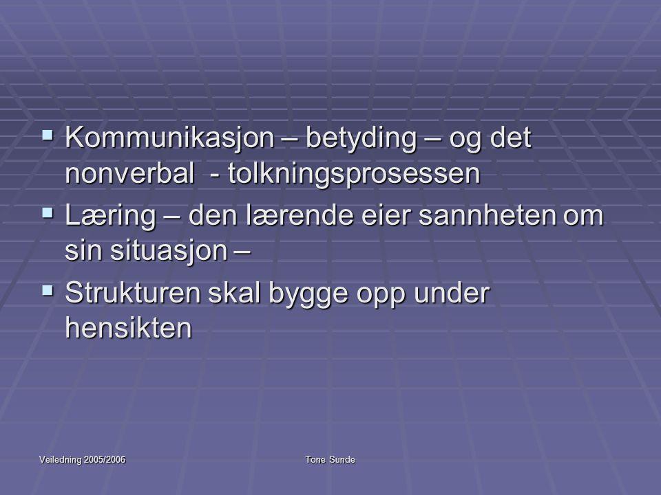Kommunikasjon – betyding – og det nonverbal - tolkningsprosessen