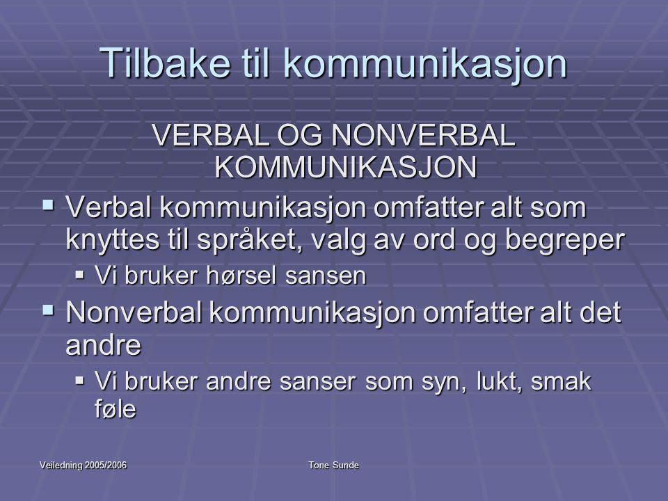 Tilbake til kommunikasjon