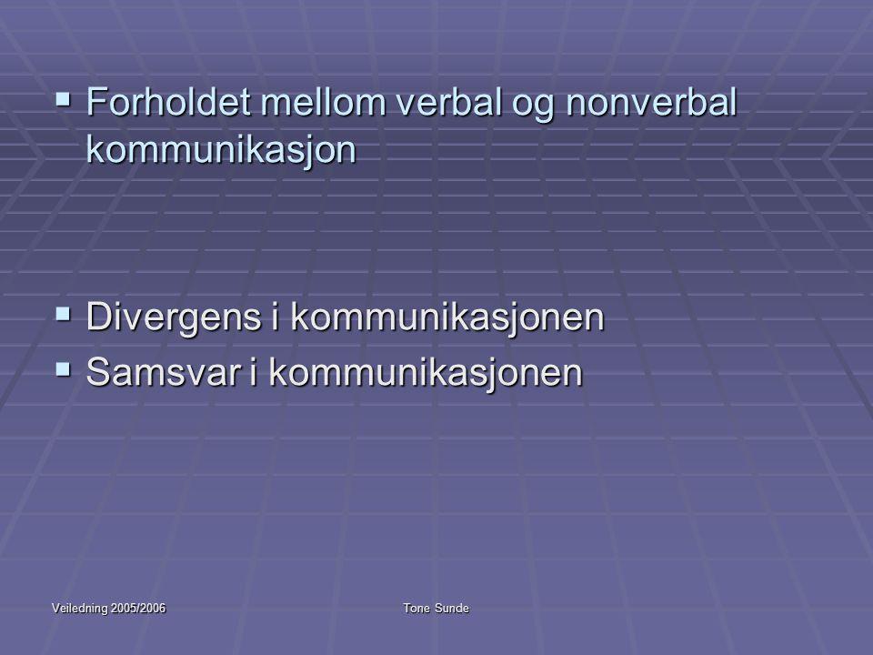 Forholdet mellom verbal og nonverbal kommunikasjon