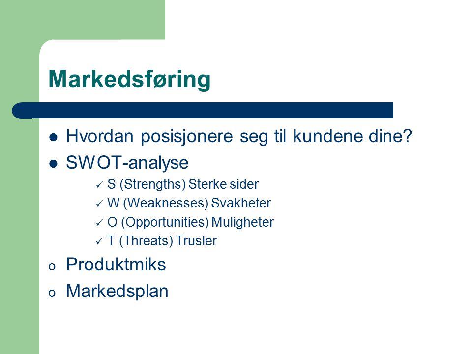 Markedsføring Hvordan posisjonere seg til kundene dine SWOT-analyse