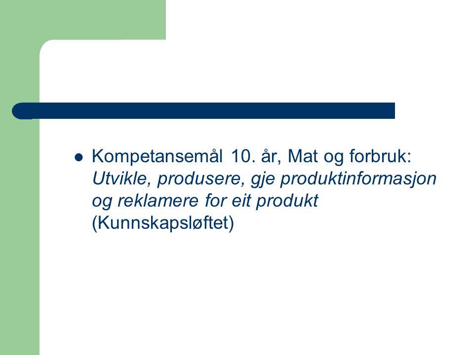 Kompetansemål 10.
