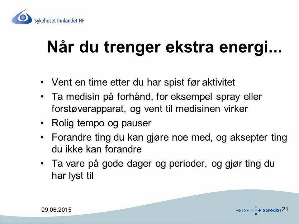 Når du trenger ekstra energi...