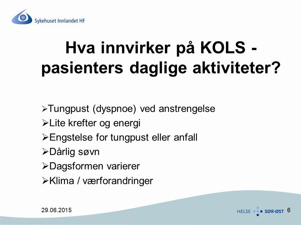 Hva innvirker på KOLS -pasienters daglige aktiviteter