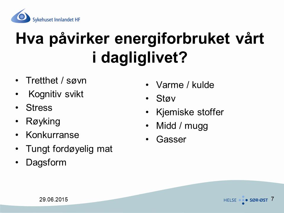 Hva påvirker energiforbruket vårt i dagliglivet