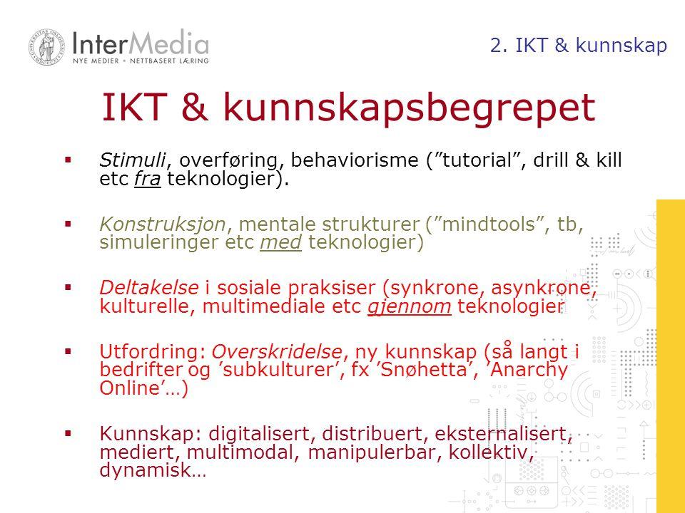 IKT & kunnskapsbegrepet