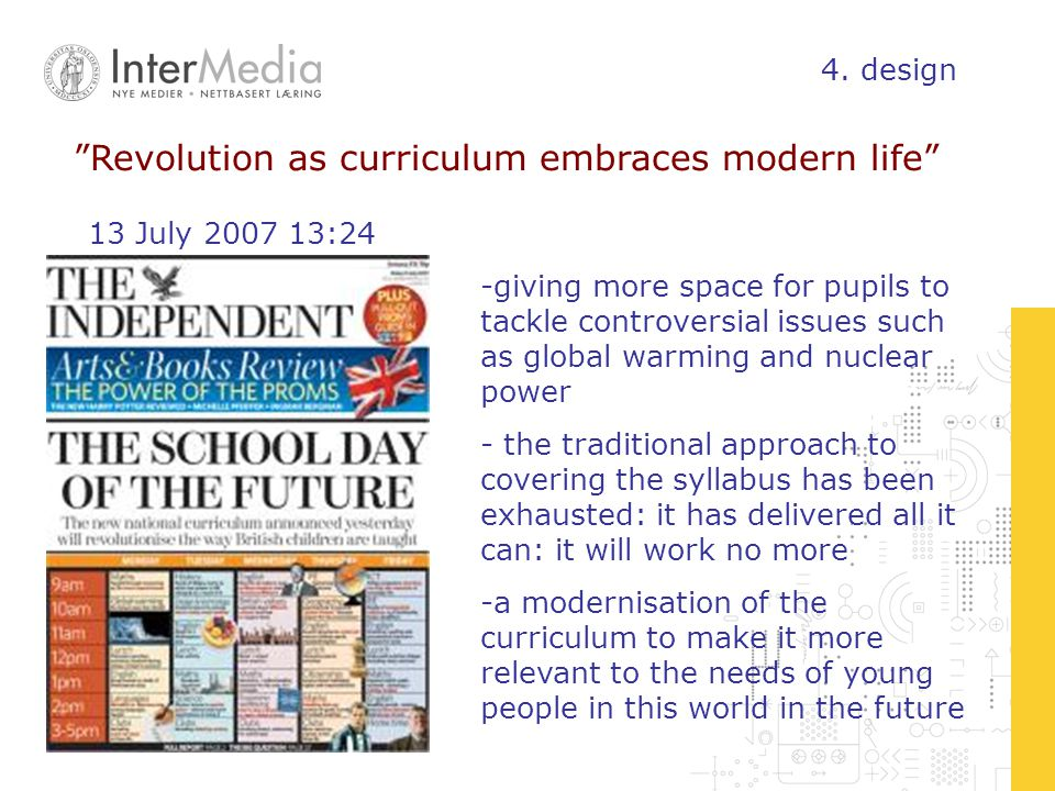 Revolution as curriculum embraces modern life