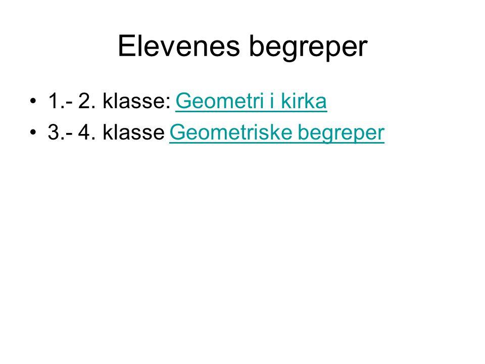 Elevenes begreper 1.- 2. klasse: Geometri i kirka