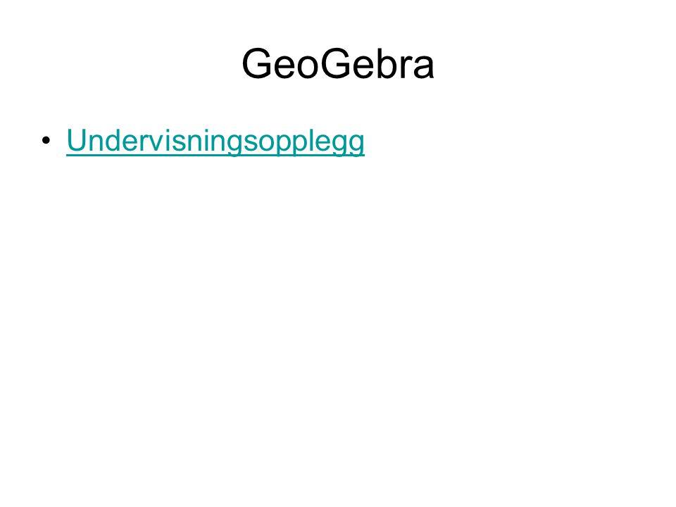 GeoGebra Undervisningsopplegg