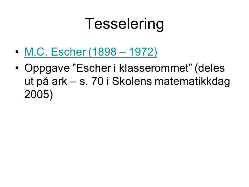 Tesselering M.C. Escher (1898 – 1972)