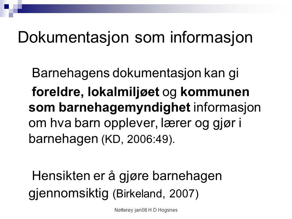 Dokumentasjon som informasjon