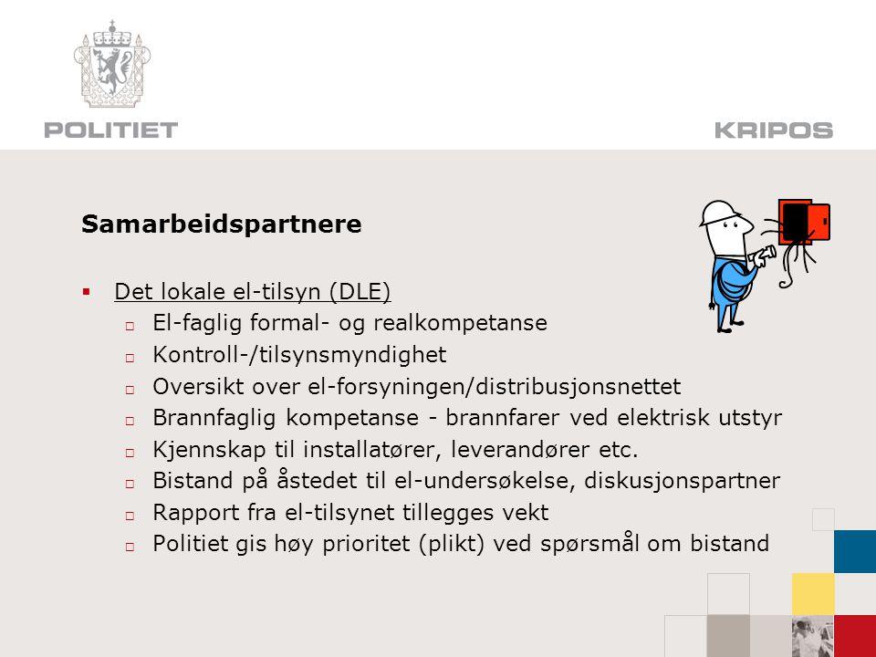 Samarbeidspartnere Det lokale el-tilsyn (DLE)