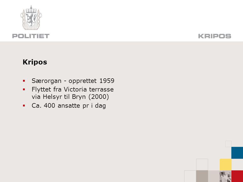Kripos Særorgan - opprettet 1959