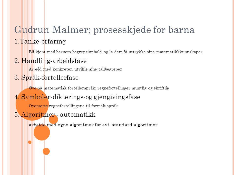 Gudrun Malmer; prosesskjede for barna