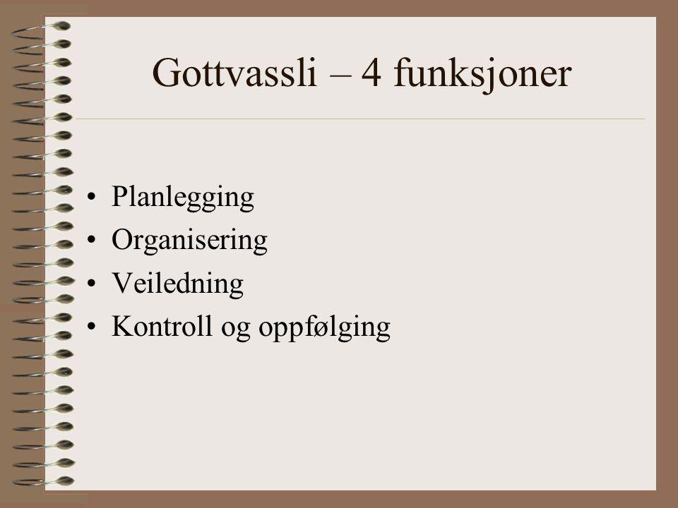 Gottvassli – 4 funksjoner