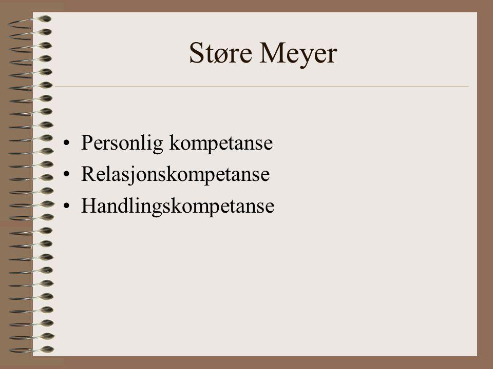 Støre Meyer Personlig kompetanse Relasjonskompetanse