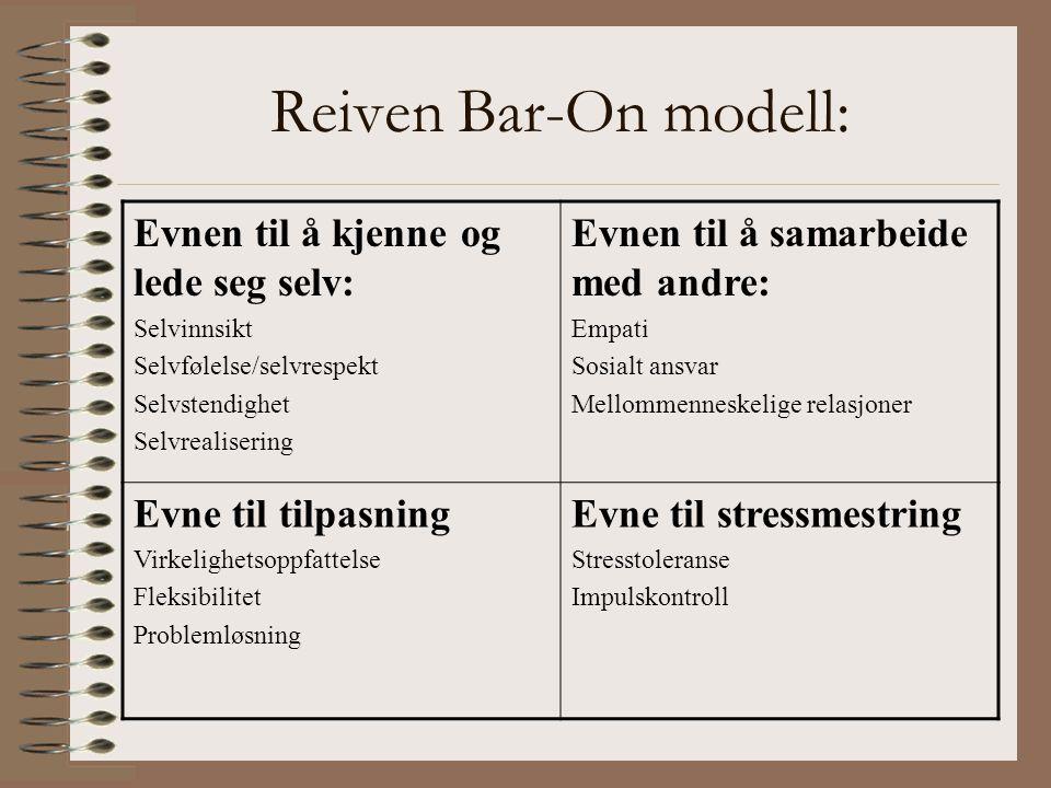 Reiven Bar-On modell: Evnen til å kjenne og lede seg selv: