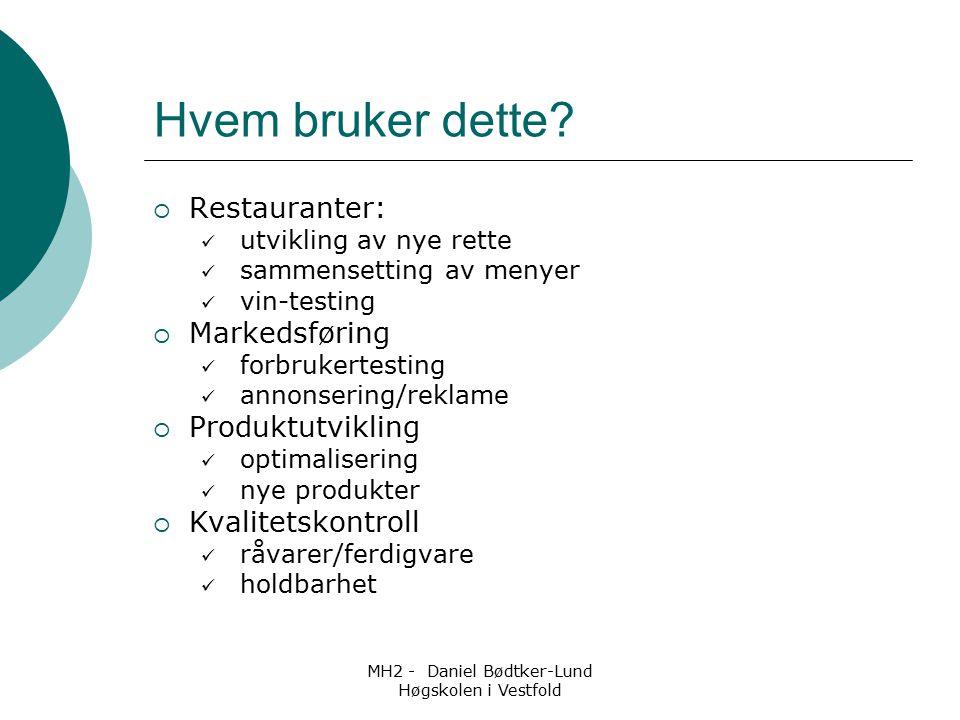 MH2 - Daniel Bødtker-Lund Høgskolen i Vestfold