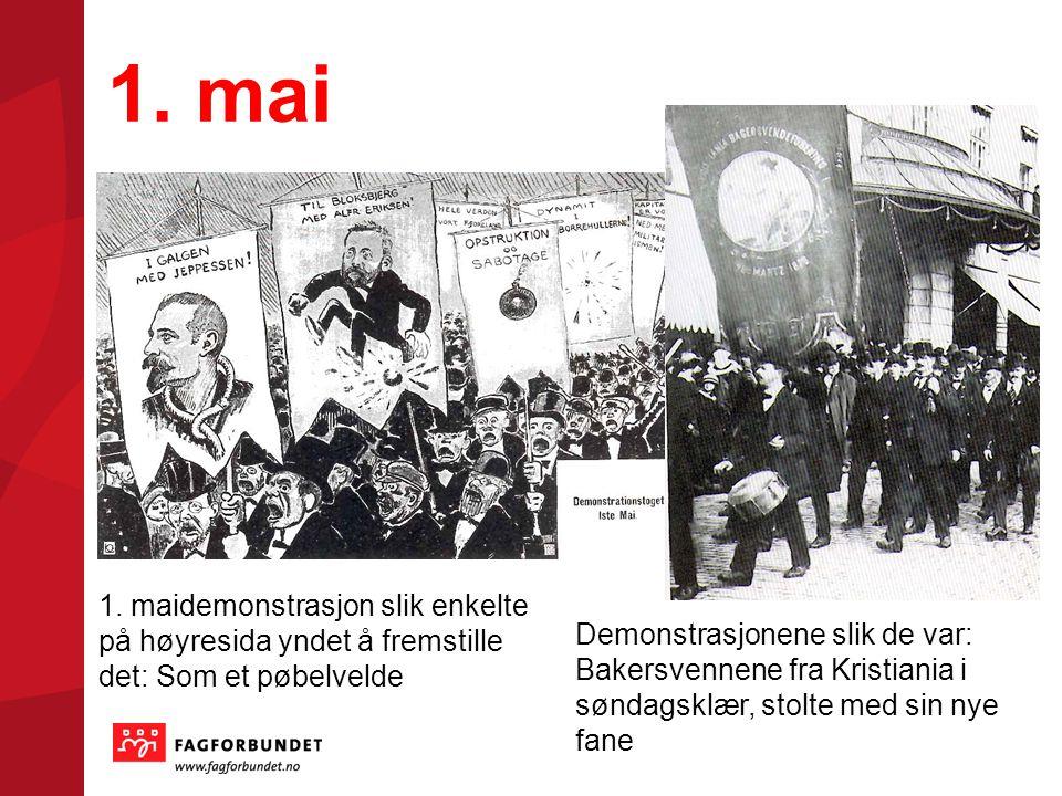 1. mai 1. maidemonstrasjon slik enkelte på høyresida yndet å fremstille det: Som et pøbelvelde.