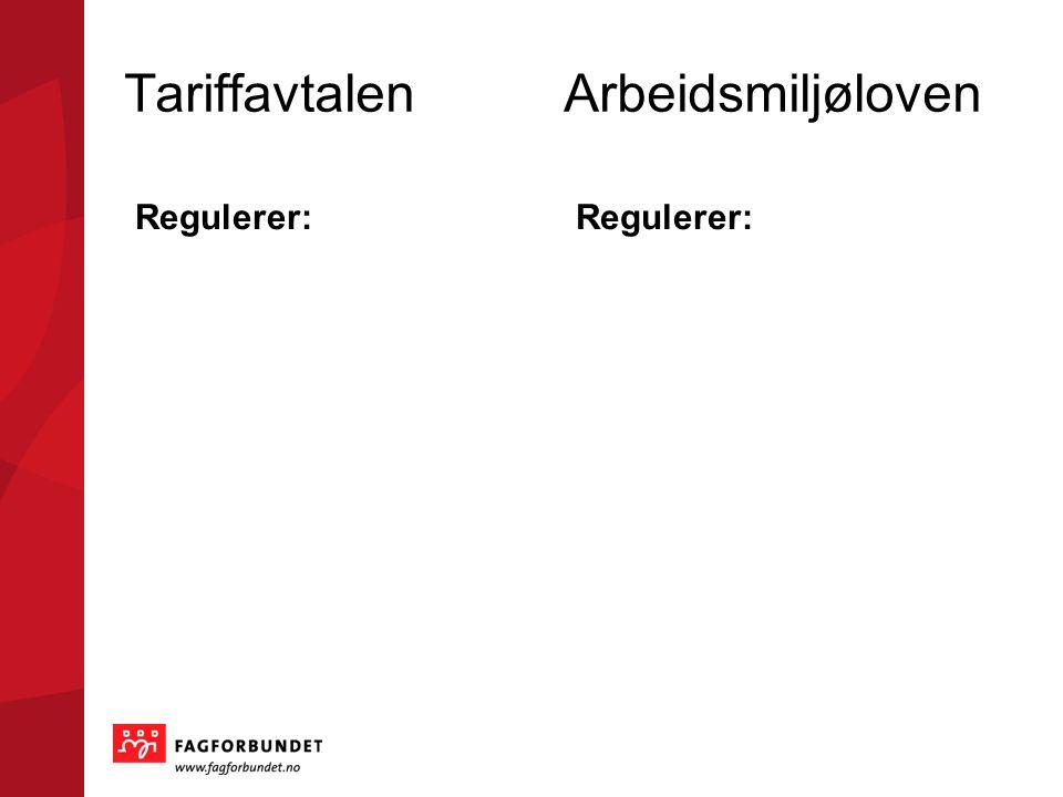 Tariffavtalen Arbeidsmiljøloven