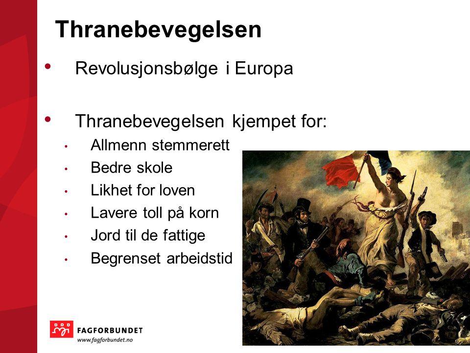 Thranebevegelsen Revolusjonsbølge i Europa