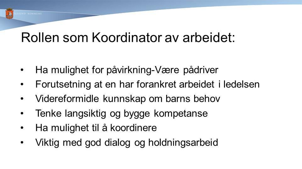Rollen som Koordinator av arbeidet: