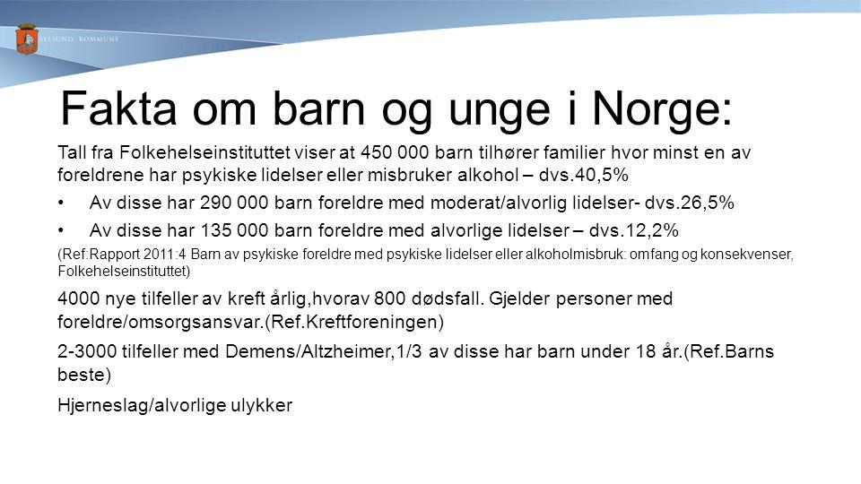 Fakta om barn og unge i Norge:
