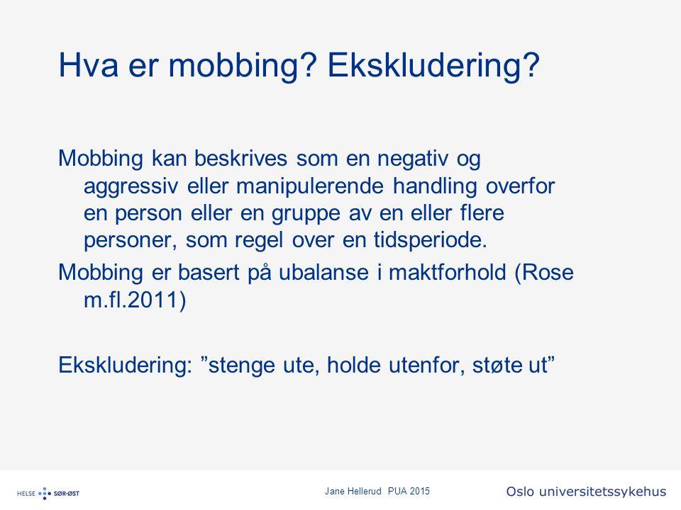 Hva er mobbing Ekskludering
