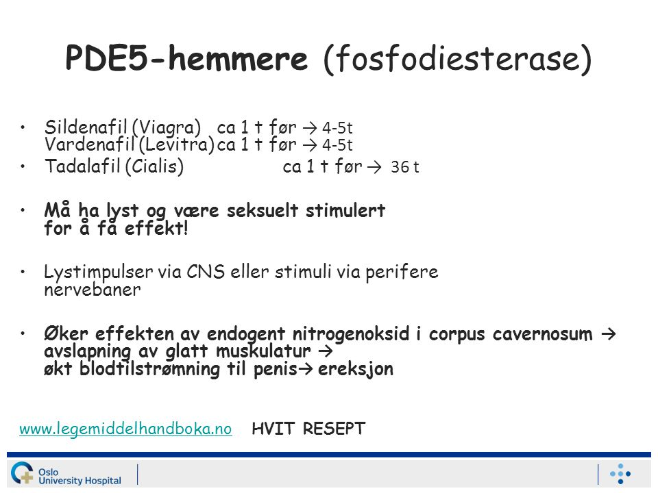 PDE5-hemmere (fosfodiesterase)