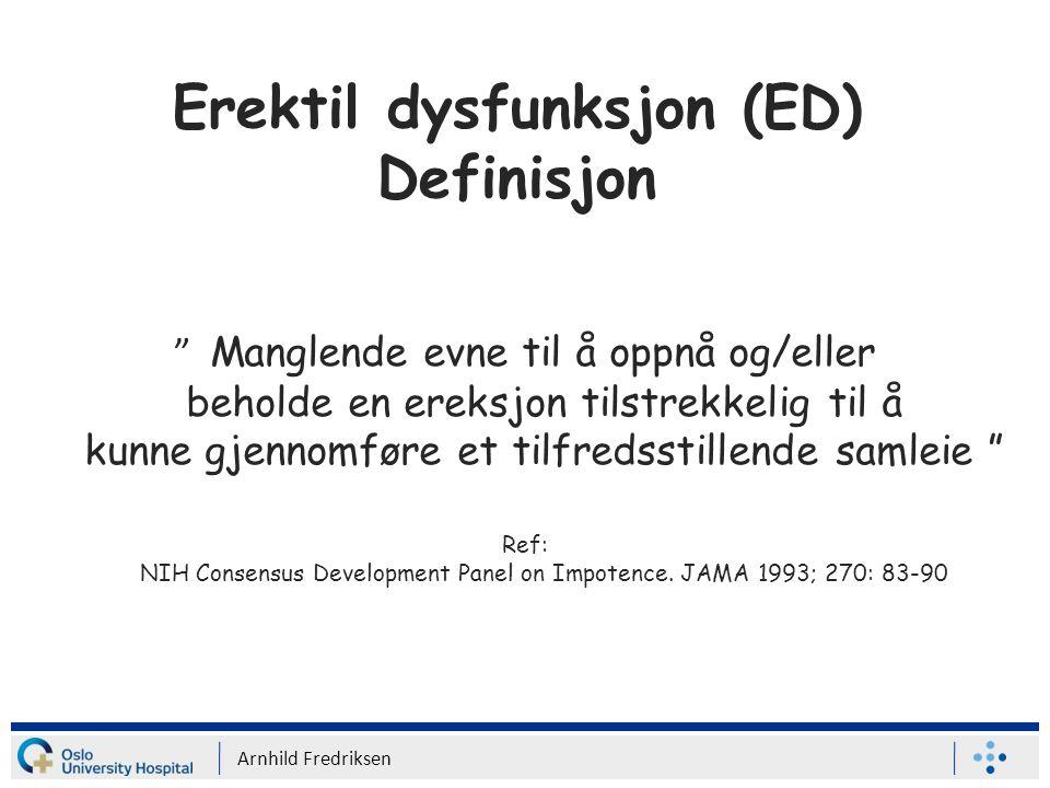 Erektil dysfunksjon (ED) Definisjon