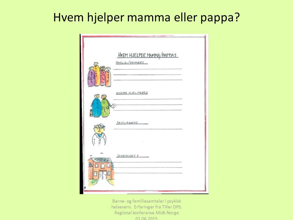 Hvem hjelper mamma eller pappa