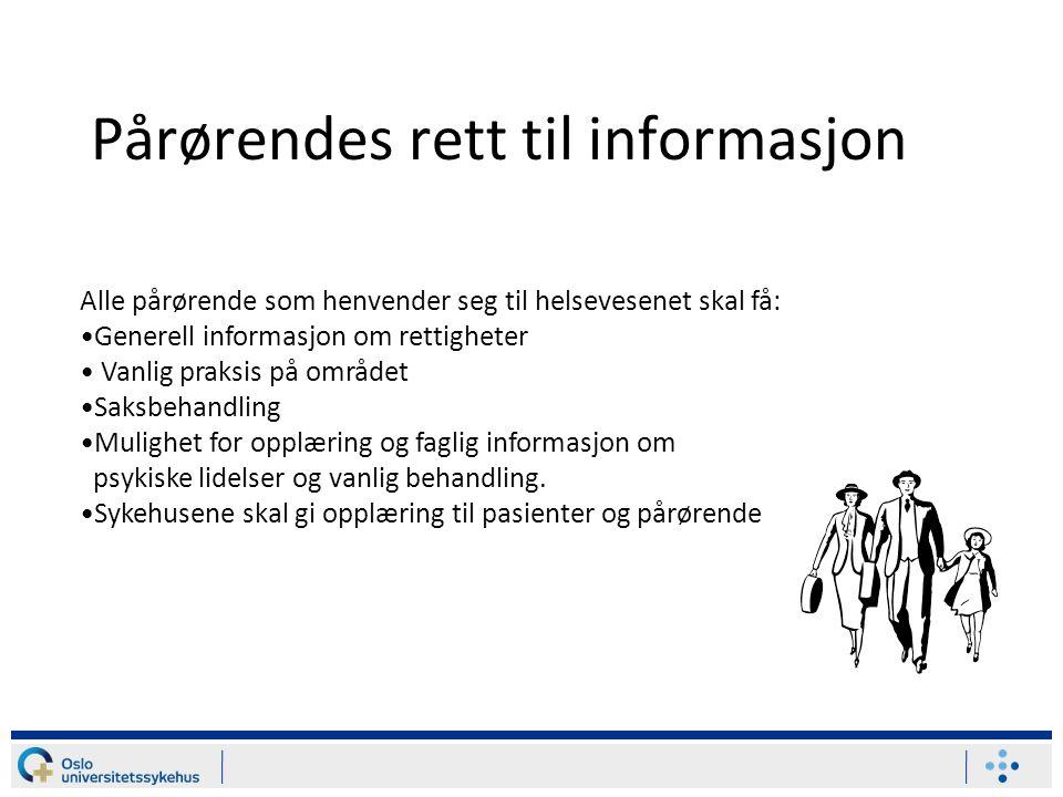 Pårørendes rett til informasjon