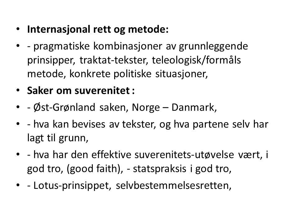 Internasjonal rett og metode: