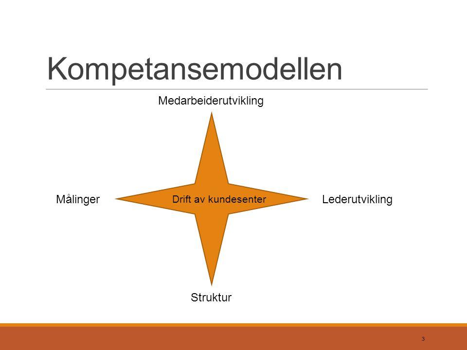 Kompetansemodellen Medarbeiderutvikling Målinger Lederutvikling
