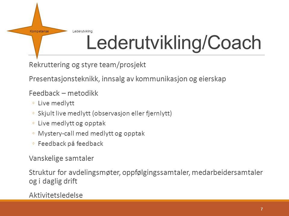 Lederutvikling/Coach