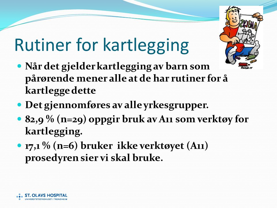 Rutiner for kartlegging