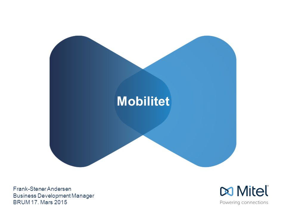 Mobilitet Frank-Stener Andersen Business Development Manager