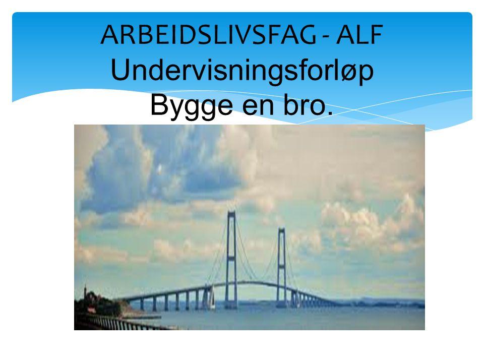 ARBEIDSLIVSFAG - ALF Undervisningsforløp Bygge en bro.