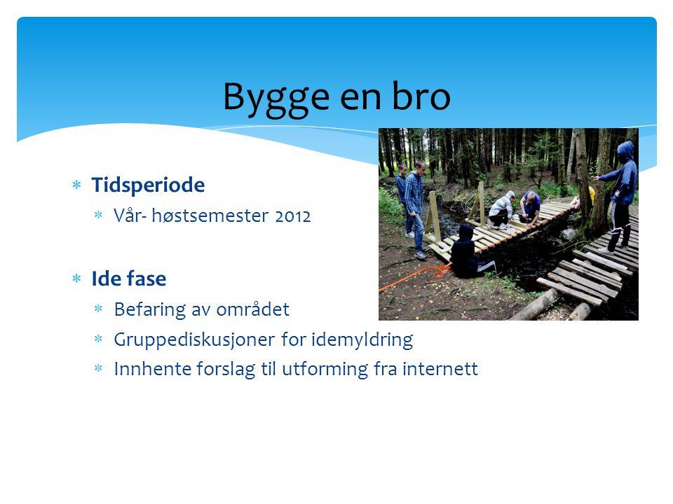 Bygge en bro Tidsperiode Ide fase Vår- høstsemester 2012