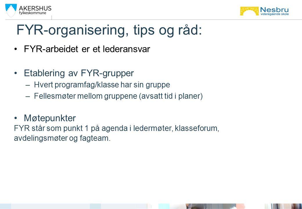 FYR-organisering, tips og råd: