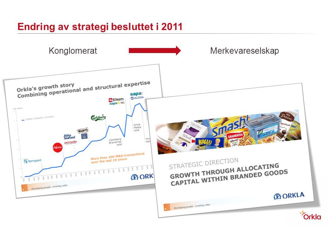 Endring av strategi besluttet i 2011